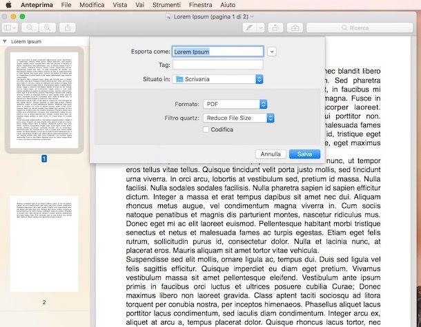 Come comprimere un file PDF con Mac