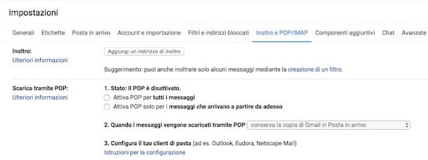 Come deviare mail su Gmail