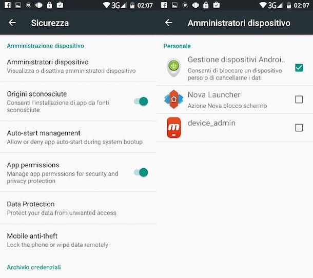 Come disinstallare un programma su Android