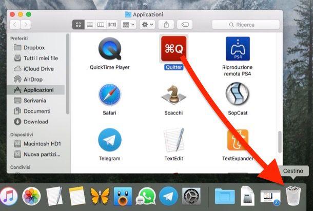 Come disinstallare un programma Mac