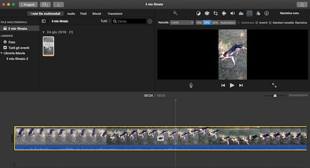 Come rallentare un video con iMovie da Mac