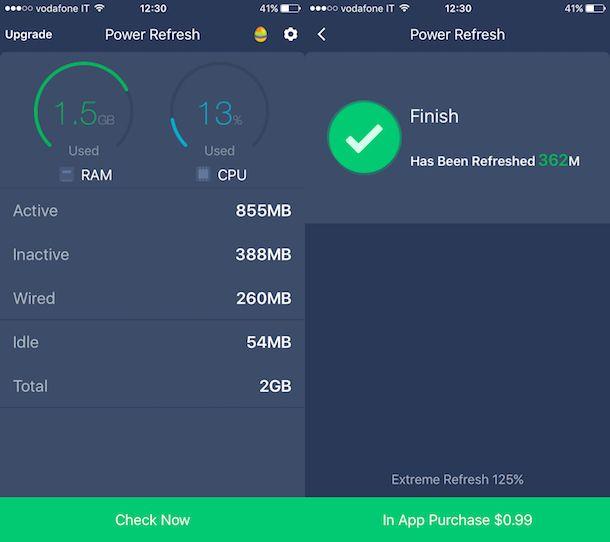 Come liberare la RAM su iPhone