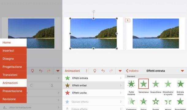 Animare immagini su PowerPoint da smartphone e tablet