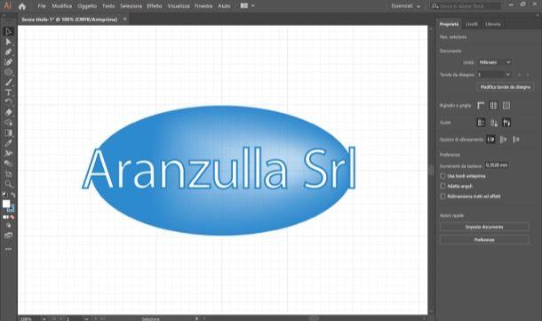 Logo creato con Illustrator