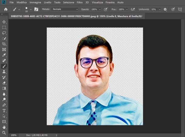Sagoma ricavata da Photoshop