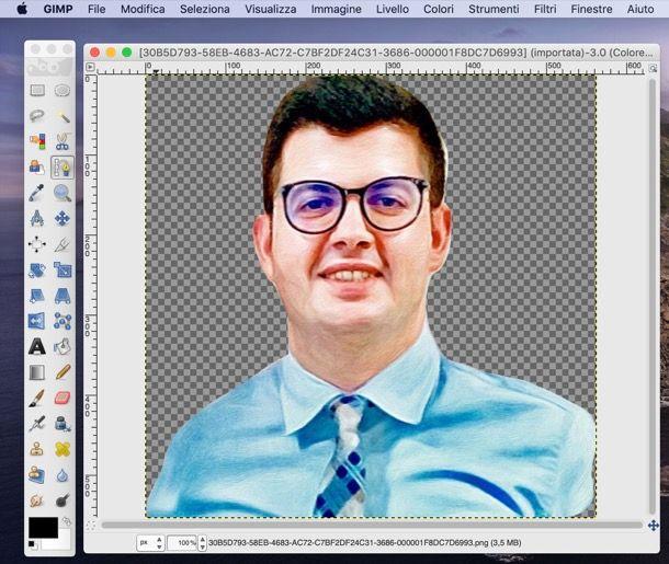 Scontornare con GIMP