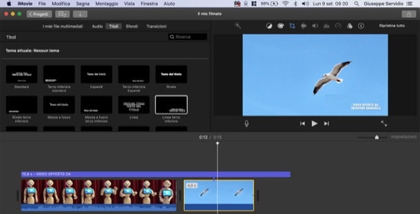 Imprimere un watermark ai video con iMovie