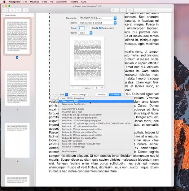 Come unire file PDF Mac