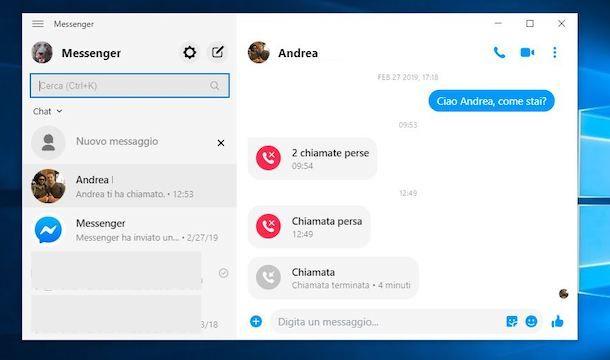 Chiamare su Facebook con Messenger