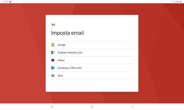 Come creare un account email su Samsung