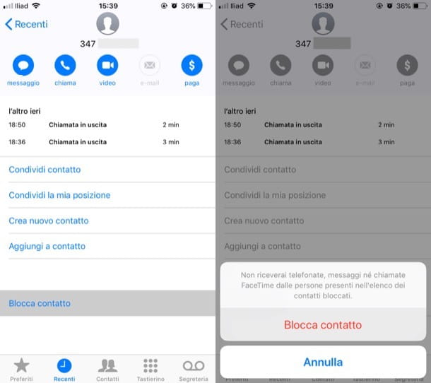 Come bloccare un numero di telefono su iPhone