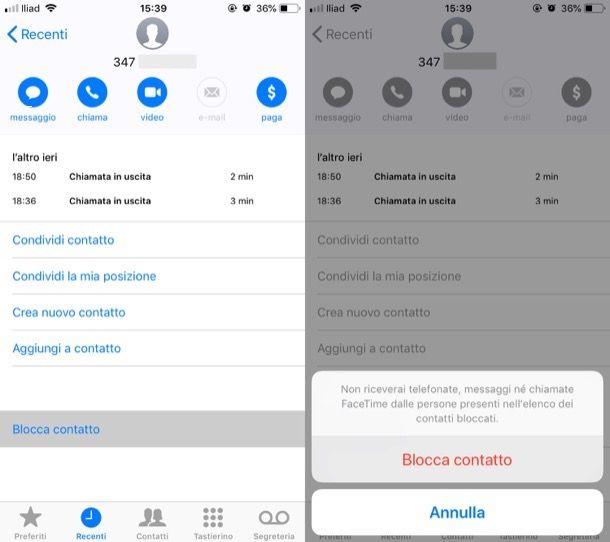 Come bloccare un numero di telefono su iPhone