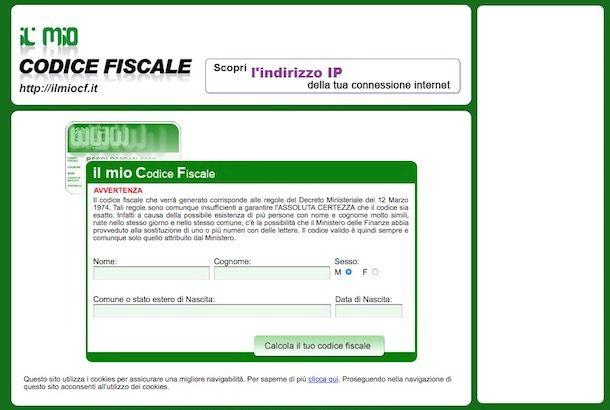Come trovare codice fiscale gratis