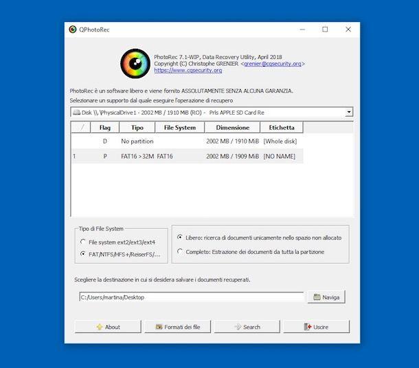 Programmi per SD card