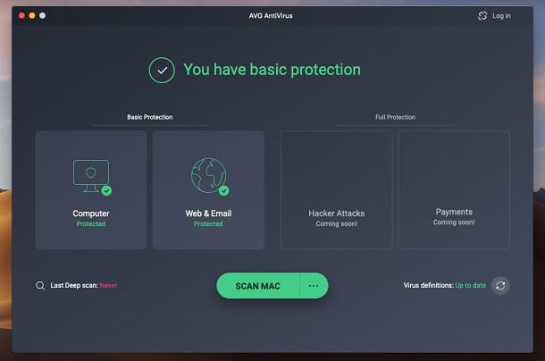 AVG Antivirus Free per Mac