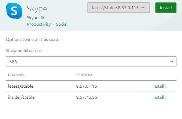 Installare Skype su Linux a 32 bit