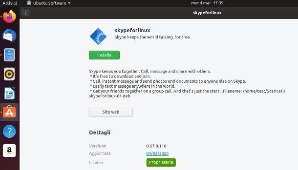 Come installare Skype su Linux