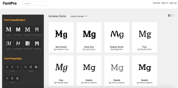programmi per font