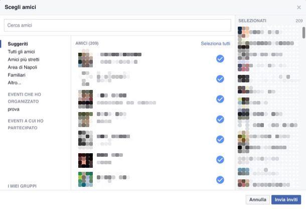 Come selezionare tutti gli amici di Facebook