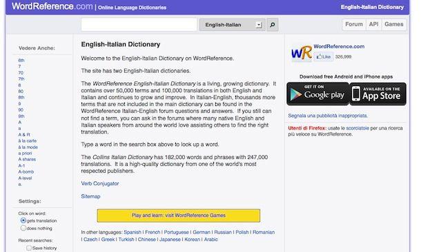 Dizionario inglese italiano salvatore aranzulla for Traduzione da inglese a italiano