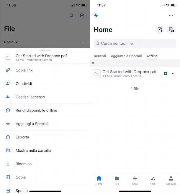 Come usare Dropbox offline su Dropbox