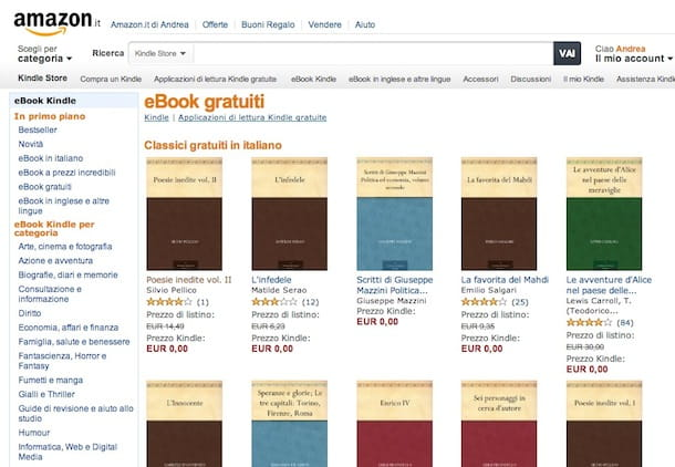 scaricare ebook gratis da amazon