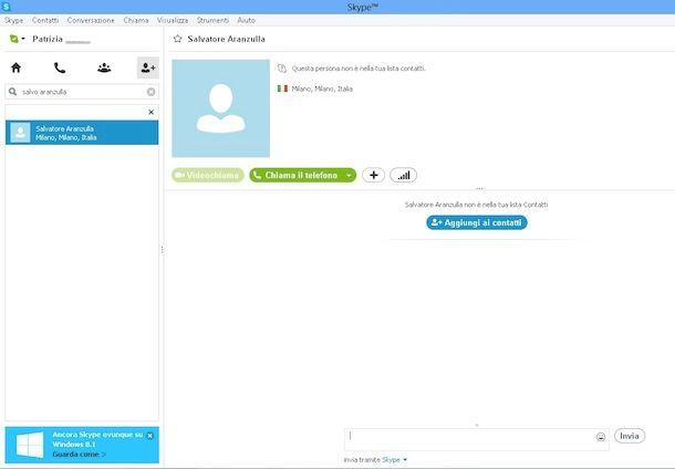 skype amatoriale