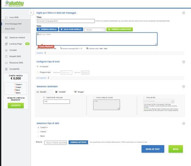 Software per la creazione di match online