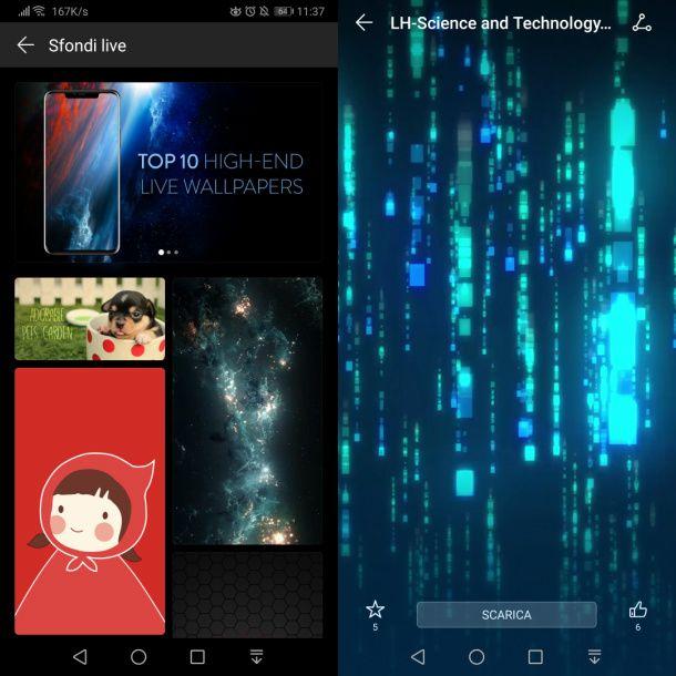 Temi animati per Huawei