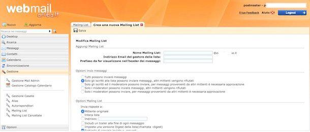 Invio newsletter con Aruba