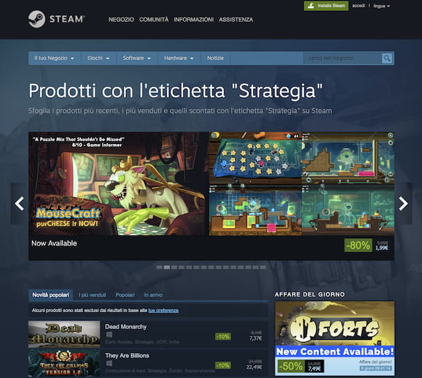 Giochi di strategia su Steam