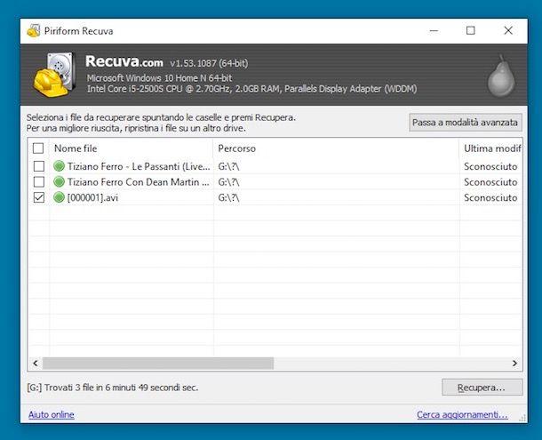 Recupero dati da hard disk esterno