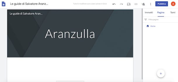 Sito Internet gratis con Google Sites