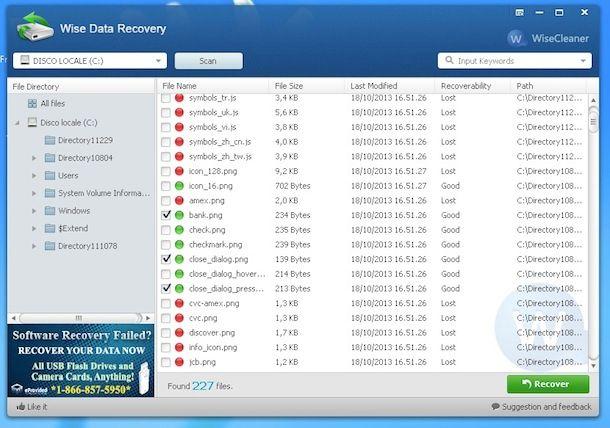 Programma gratuito per recuperare i file cancellati