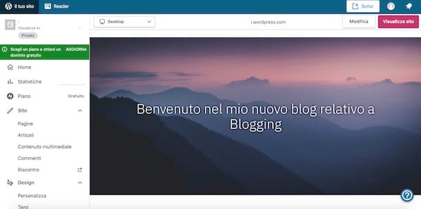 Sito gratis WordPress