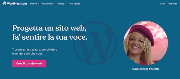 Creare un sito gratis con WordPress