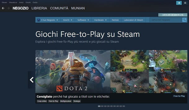 Giochi gratuiti su Steam