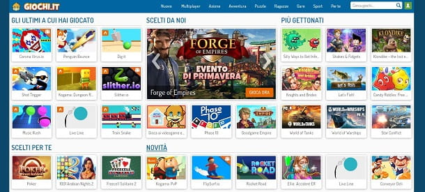 Giochi online su Giochi.it