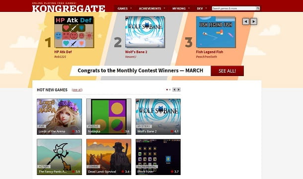 Giochi online su Kongregate