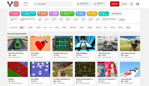 Giochi online su Y8