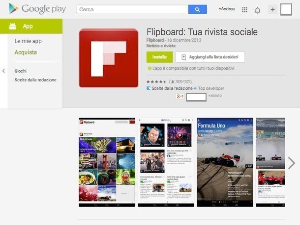 Applicazioni Android Internet