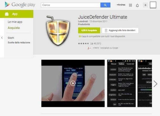 Applicazioni Android sistema