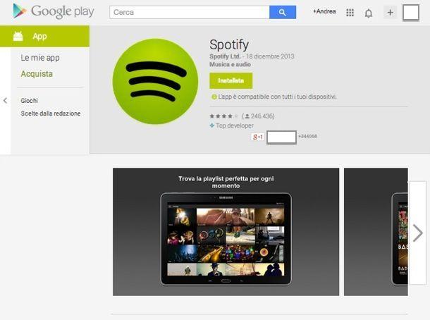 Applicazioni Android multimedia