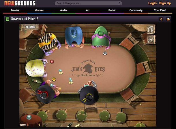 Newsgrounds gioco poker