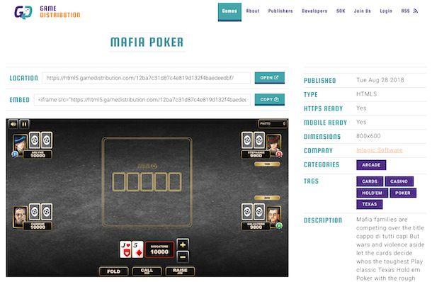 GameDistribution gioco Poker