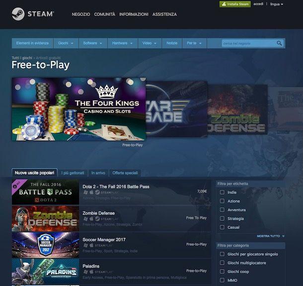Giochi da scaricare gratis per PC