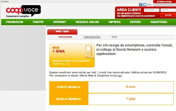 Internet Mobile CoopVoce