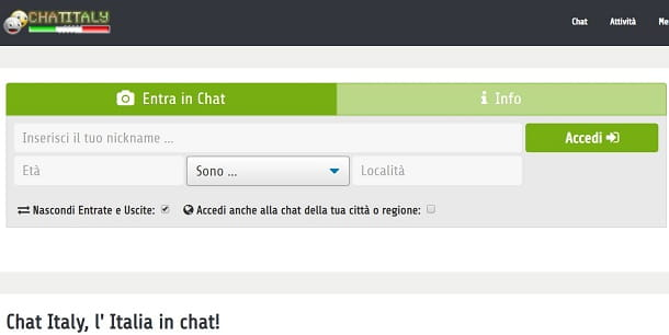 Chat Italy