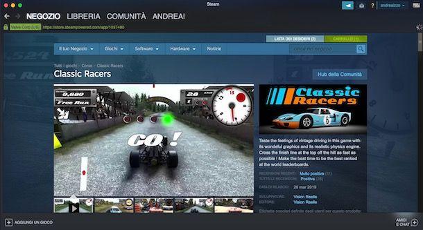 Giochi auto su Steam