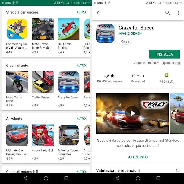 Giochi auto su Android